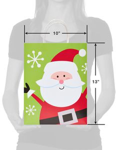 Happy Santa Medium Christmas Gift Bag