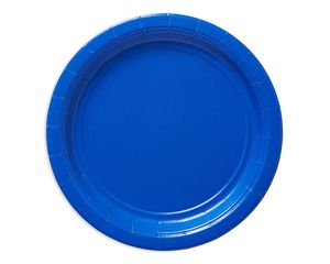 royal blue dessert round paper plate 20 ct