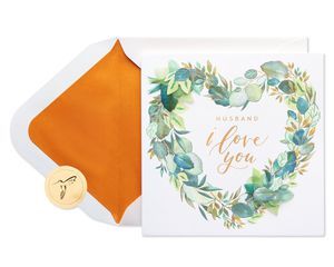 Love Foliage Valentine's Day Greeting Card