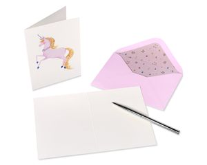 Sophisticated Unicorn Boxed Blank Note Cards with Envelopes, 12-Count