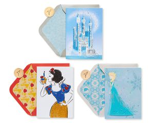 Disney Princesses Birthday Greeting Card Bundle, 3-Count