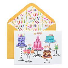 Cakes Birthday Greeting Card