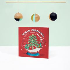 Snowglobe Christmas Greeting Card, 6-Count