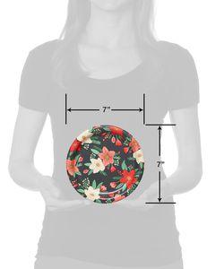 Winter Floral Paper Dessert Plates, 8-Count