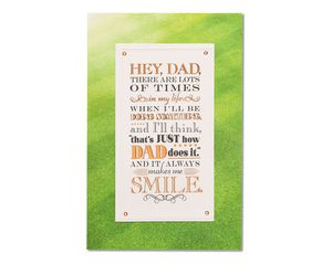 proud father's day card from son