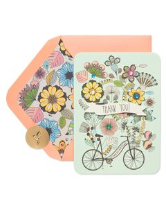 Bike Thank You Greeting Card