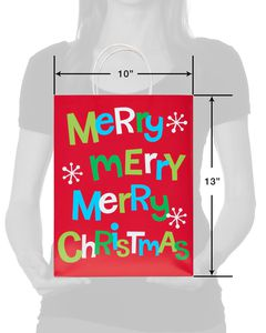 Merry Merry Merry Christmas Medium Gift Bag