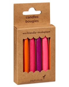 Multicolored Birthday Candles, 12-Count