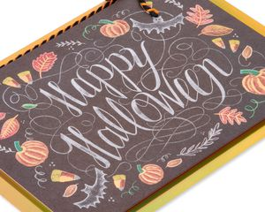Chalkboard Happy Halloween Greeting Card