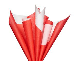 Red and White Tissue Paper, 125-Sheets
