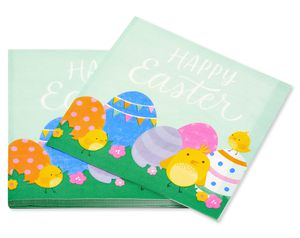 Easter Eggs Lunch Napkins, 16-Count