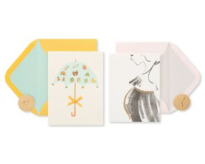 Mom-to-Be Baby Shower Greeting Card Bundle, 2-Count
