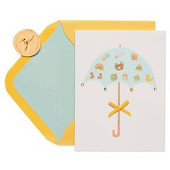 Umbrella Baby Shower Greeting Card