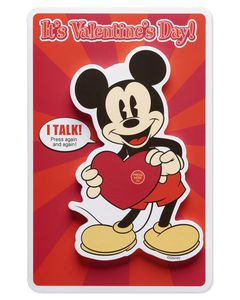 Mickey Mouse Valentine's Day Card