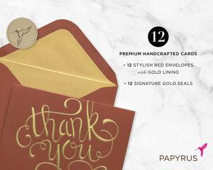 Thank You Holiday Boxed Cards, 12-Count