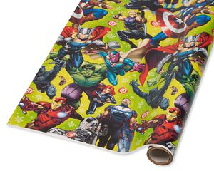 Avengers Christmas Wrapping Paper, 40 Total Sq. Ft.