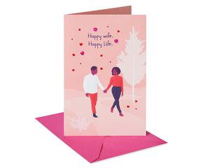 Happy Wife Happy Life Valentine's Day Card for Mom