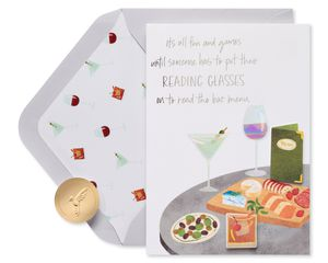 Reading Glasses Funny Birthday Greeting Card