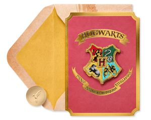 Hogwarts Patch Harry Potter Blank Greeting Card