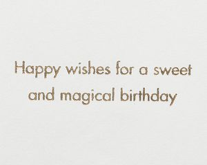 Mermaid Cupcake Birthday Greeting Card