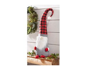 Mud Pie Large Buffalo Check Gnome