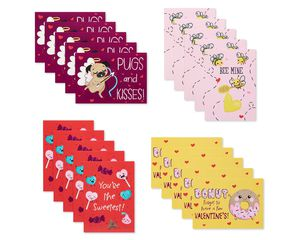 Pun Believable Valentines Lunch Box Mini Notes, 40-Count