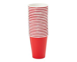 bright red paper cups 20 ct