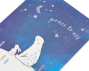 Bear and Bunny Christmas Greeting Card