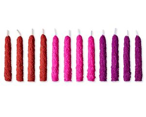 Roses Birthday Candles, 12-Count