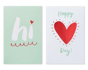 Hi Valentine's Day Card, 6-Count