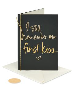 First Kiss Valentine's Day Greeting Card
