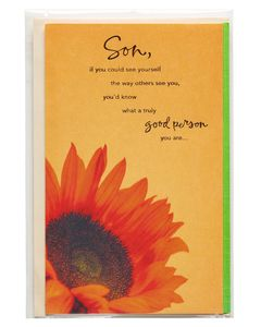 Sunflower Father's Day Card for Son