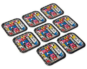 Power Rangers Ninja Steel Dessert Square Plate, 8 Count
