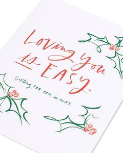 gifting for you is hard christmas card