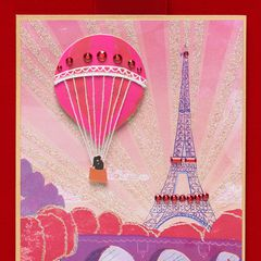 Couple in Hot Air Balloon Valentine's Day Greeting Card