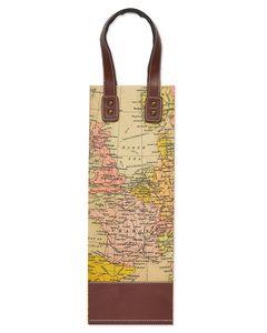 Vintage Map Beverage Bag, 1-Count