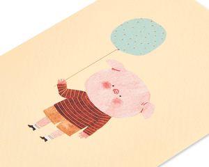 Little Piggy Birthday Greeting Card
