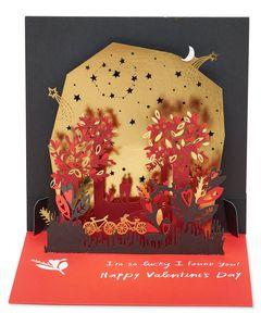 Stars Pop-Up Valentine's Day Card