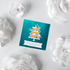 Floral Cake Wedding Card