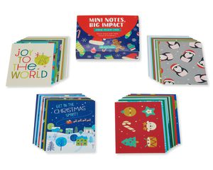 Christmas Lunch Box Mini Notes, 40-Count
