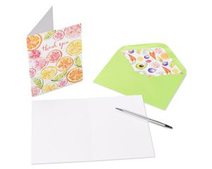 Fruits and Vegetables Thank You Boxed Blank Note Cards with Envelopes, 20-Count