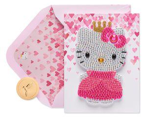 Gem Patch Hello Kitty Birthday Greeting Card