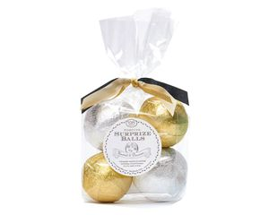 Mini Silver and Gold Fortune Surprize Ball, 4-Count