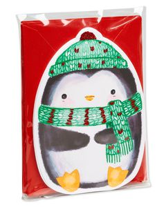 Penguin Christmas Note Cards and Envelopes, 25-Count