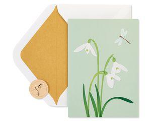 White Crocus Vellum Sympathy Greeting Card