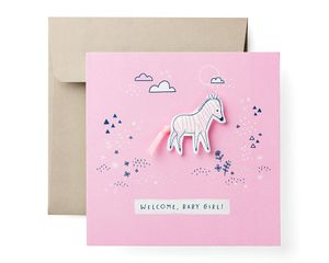 Zebra Baby Girl Congratulations Card