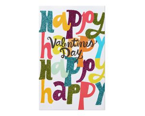 Colorful Happy Valentine's Day Card
