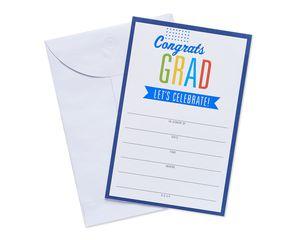 congrats grad invite postcards 25 ct