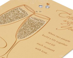 Champagne Wedding Card