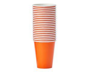 orange paper cups 20 ct